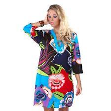 78118 BEACHWEAR LADIES KAFTAN COVER UP JAPANESE FLOWER PRINT SARONG TUNIC DRESS