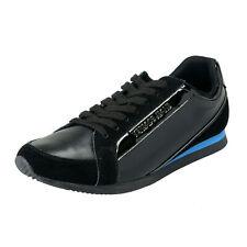 Versace Jeans Men's Black Leather Mesh Fashion Sneakers Shoes Sz 7 12