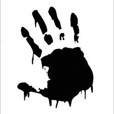 Vinyl Decal Truck Car Sticker Laptop - Horror Movies Zombie Bloody Handprint v2