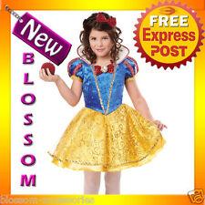 CK103 Snow White Deluxe Girls Child Fairytales Book Week Halloween Dress Costume