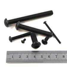 M6 BLACK GRADE 10.9 STEEL 8mm - 60mm HEX BUTTON HEAD MACHINE SCREWS