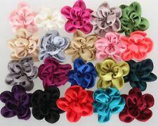Fleur de cheveux satin xl 20 couleurs épingle en tissu Barrette XXL