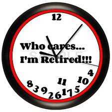 I'M RETIRED WALL CLOCK PERSONALIZED GIFT DECOR FUNNY HUMOR GAG BOSS RETIREE