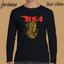 BSA Motorcycle Old Retro Machine Logo Men's Long Sleeve Black T-Shirt Size S-3XL