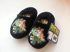 *** Ragazzo neonato Pantofole BEN10 Tg UK 6/7 e 8/9 NERO ***