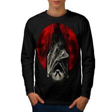Luna de Sangre Vampiro Hombre Manga Larga wellcoda Camiseta Nuevo |