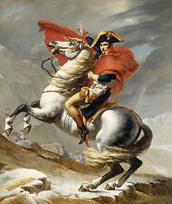 PAINTINGS PORTRAIT NAPOLEON BONAPARTE EMPEROR FRANCE ALPS HORSE ART POSTER  # 4