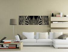 ANIMALI Safari Zebra Cool salotto Wall art Adesivi Decalcomania Arredamento UK rui67