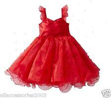 New Girls Red Tutu Dress Boutique Fairy Princess RRP$35 SZ 5, 6 & 7
