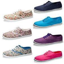 Damen Schuhe Damenschuhe Sportschuhe Leinenschuhe Sneaker Turnschuhe Schnürer