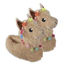 Ladies Girls Novelty Llama Slippers Alpaca  Size 3 - 8 Tassel Pompom Gift