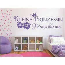 Wandtattoo Kleine Prinzessin Name Wunschname Wunschtext Sticker Wandaufkleber 1