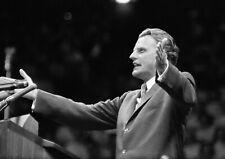 Art print POSTER Evangelist Billy Graham Preaching in New York