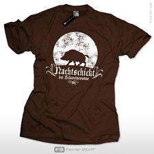 Jäger T-Shirt Nachtschicht bei Schweinesonne Geschenk Jagd Fun Wildschwein