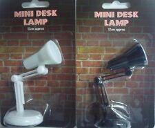 Mini Desk Lamp (12cm) Clip On Book Reading Light (Black or White)