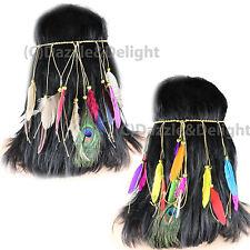 Plume Bandeau Festival Indien Carnaval Suspension Plumes Serre-tête Cheveux Couronne