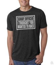 Sorry officer race shirt Funny cop police JDM acura honda race car truck window