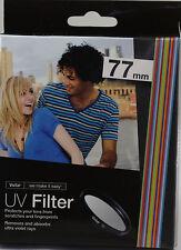 Vivitar UV 77MM Filter For lenses XL1 10-20mm 3.5 70-200mm 100-400mm 17-35mm