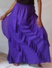 violet skirt long diagonal OS 1X 2X 3X 4X 5X 6X  plus ruffles asym