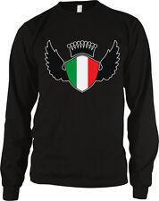 Italian Shield Crest Wings Italia Flag Colors Heritage Team ITA Men's Thermal