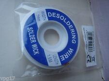 DESOLDERING BRAID FLUX IMPREGNATED 1.5M REEL 2mm  NEW