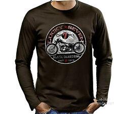 Camiseta de ciclista Vintage Clásico Oldtimer moto motocicleta 4051 LS BR