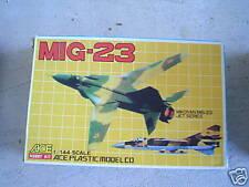 Vintage ACE 1/144 MIG-23 Fighter Model Kit MIB