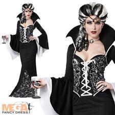 Deluxe Royal VAMPIRESS DONNA HALLOWEEN FANCY DRESS nero / bianco Costume da vampiro