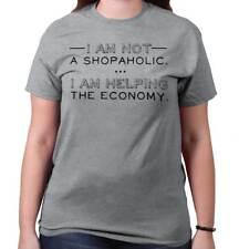Shopaholic Economy Funny T Shirt Tee Cute Stylish Attitude  T-Shirt Top