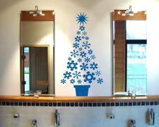 Wandtattoo Schneeflocken Weihnachtsbaum Wandaufkleber  25 Farben 8 Größen