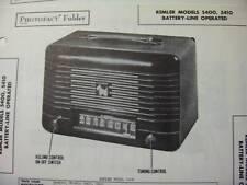 REMLER 5400 & 5410 PORTABLE RADIO PHOTOFACT