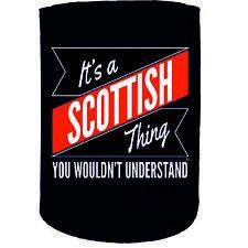 Stubby Holder - Scottish Thing Surname Personalised - Funny Novelty Christmas