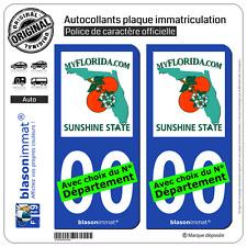 2 Stickers autocollant plaque immatriculation Auto : Floride - MyFlorida