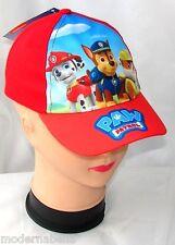 Paw Patrol cappello con visiera Estivo Bambino Baseball tg 48 e 51 rosso
