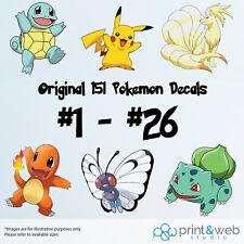 Pokemon Go Decal Sticker Bedroom Vinyl Kids Original Generation 151 #1 - #26