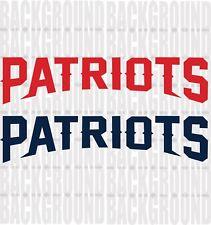 "2 New England Patriots Cornhole Decals LARGE 22 x 5"" Bean Bag Toss Sticker Baggo"