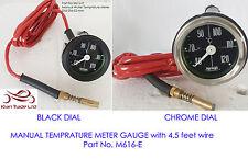 MANUAL Type VINTAGE CAR 52mm Dial Water Temperature 40-120C meter Gauge (M616-E)