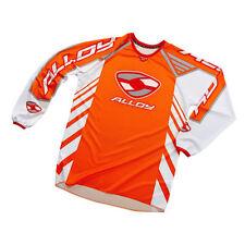 JUNIOR / ENFANTS Alloy 04 réacteur MOTOCROSS MX jersey orange blanc rouge Moto