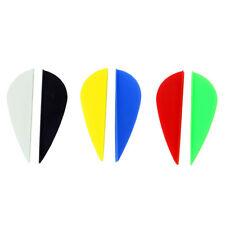 "50PCS 2"" Shield Shape Plastic Arrow Vanes Archery Fletches Bow Hunting SA"