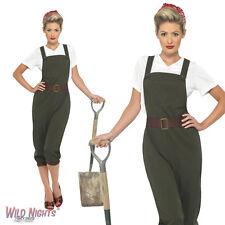 FANCY DRESS COSTUME # LADIES 1940s WW2 World War 2 LAND GIRL SIZE 8-26