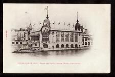 1900 palais des forets,chasse,peche,cueillettes exposition Paris France postcard