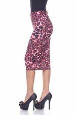 'Eden' Pencil Skirt in Snake Skin Cheetah Paisley Ivy Floral Printed