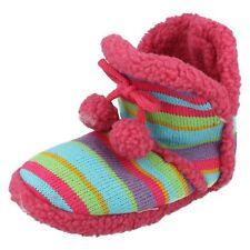 filles Chaussons bottines multicolore tricoté tige en textile x2038