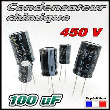 450/100# 1 à 10 pcs 100µF 450v Condensateur chimique 105° - capacitor 100uf