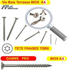 Vis inox A4 Terrasse Bois Torx25 GAMME PRO 5x50 5x60 5x70