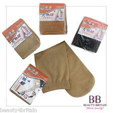 Chaussettes femme nylon nude, beige & noir gros
