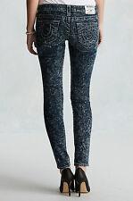 New! True Religion Women's Skinny Print Jeans W10592STS $277 Size: 26 28