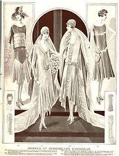 Publicité Ancienne  Mode  Mariées et Demoiselles d'Honneur 2  1930