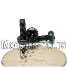 2mm (M2) - Phillips Pan Head Machine Screws (Type H) DIN 7985A Steel Black Oxide