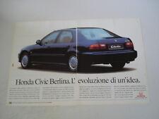 advertising Pubblicità 1992 HONDA CIVIC ESi